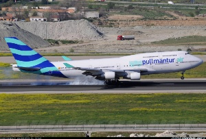 Photo ID: 2254152 Views: 1012 Pullmantur Air Boeing 747-412 (EC-KSM) shot at Madrid - Barajas (MAD / LEMD) Spain April 14, 2013 By Alberto G. Díaz