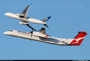 Photo ID: 2259675 Views: 20239 QantasLink (Sunstate Airlines) De Havilland Canada DHC-8-402Q Dash 8 (VH-QON) shot at Sydney - Kingsford Smith International (Mascot) (SYD / YSSY) Australia - New South Wales April 28, 2013 By Mark H