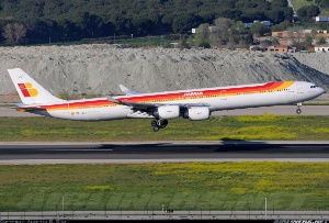 Photo ID: 2256616 Views: 1289 Iberia Airbus A340-642 (EC-JCY) shot at Madrid - Barajas (MAD / LEMD) Spain April 14, 2013 By Alberto G. Díaz