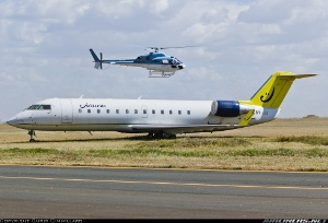 Photo ID: 2259046 Views: 315 Jetlink Express Canadair CL-600-2B19 Regional Jet CRJ-200LR (5Y-JLI) shot at Nairobi - Wilson (West) (WIL / HKNW) Kenya February 27, 2013 By Chris Gimmillaro